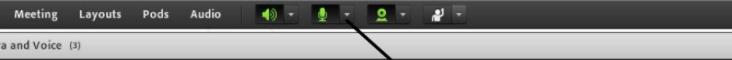 ikoner för att starta kamera och ljud